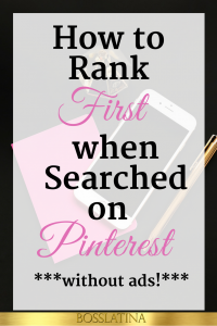 How to Rank First on Pinterest